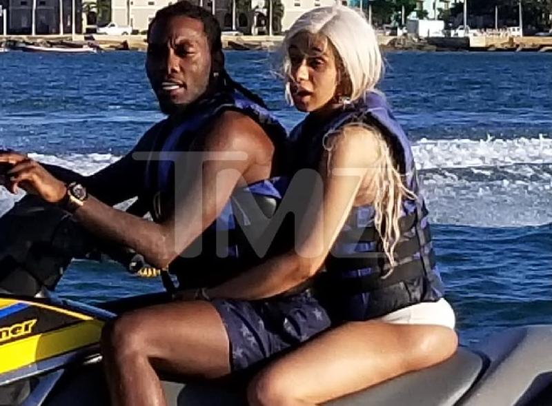 Cardi B Offset Spotted On Jet Ski In Puerto Rico Pics