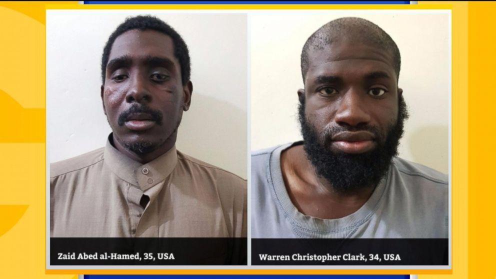 Warren Christopher Clark, 34, and Zaid Abed al-Hamid, 35,