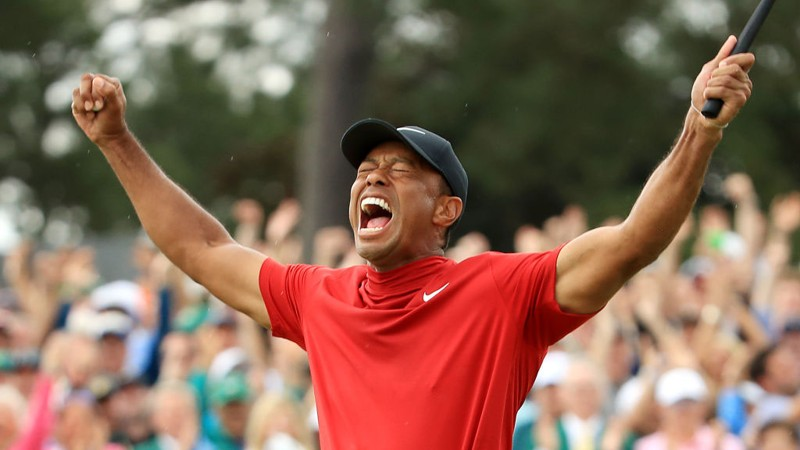 tiger woods - victory at 2019 masters - getty