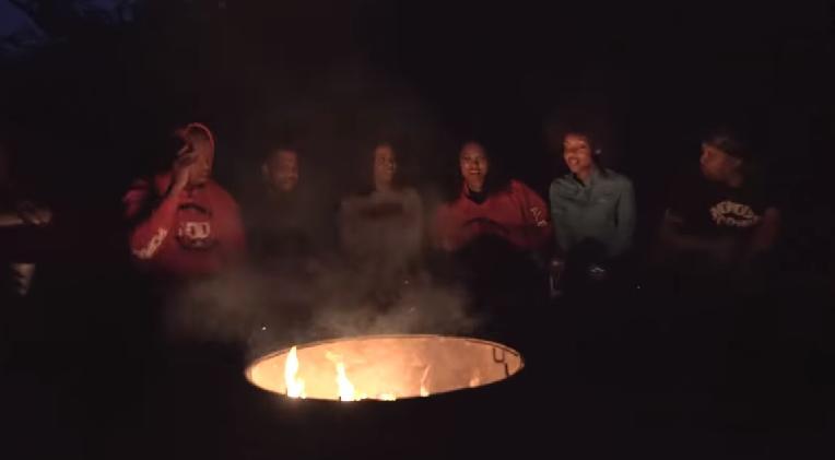 black people camping