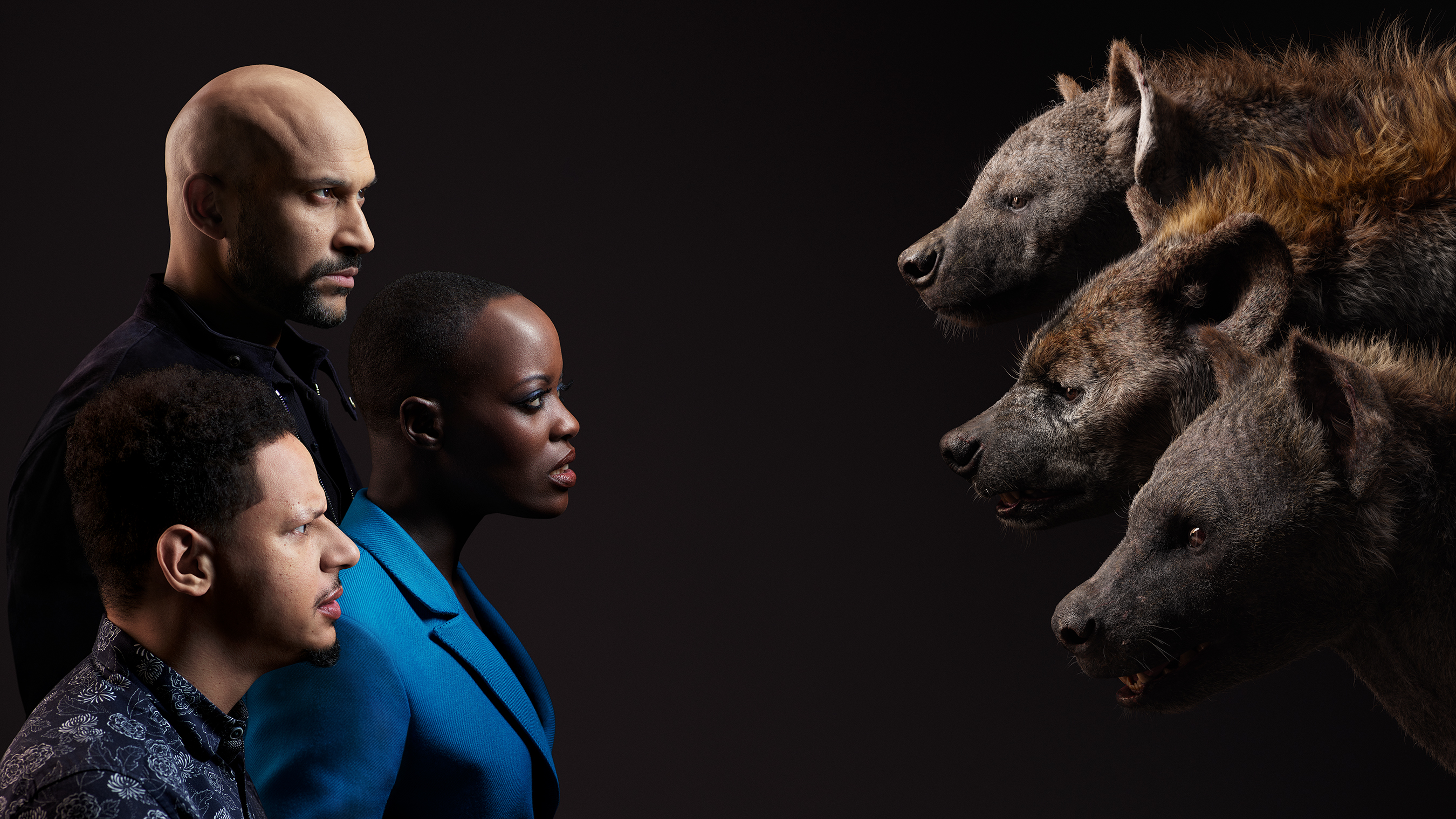 THE LION KING, Keegan-Michael Key, Florence Kasumba, Eric André
