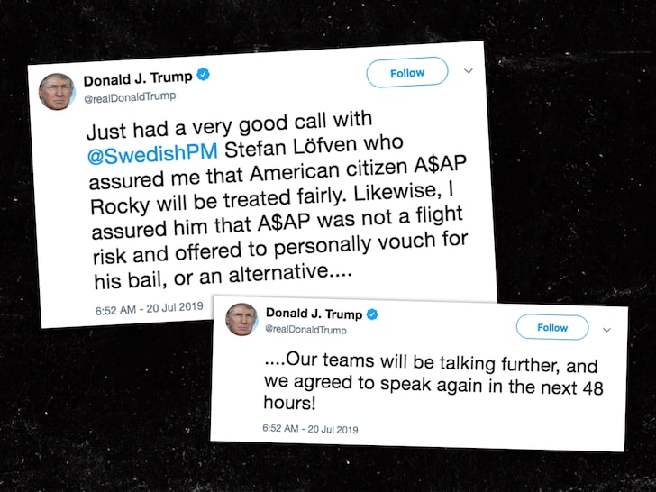 trump - asap rocky tweets