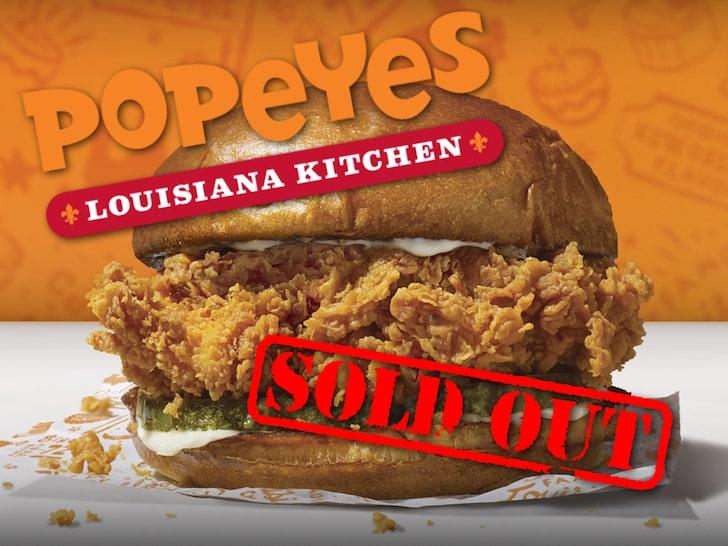 Popeye's popular chicken sandwiches