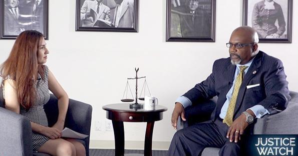 Zulu Ali being interviewed