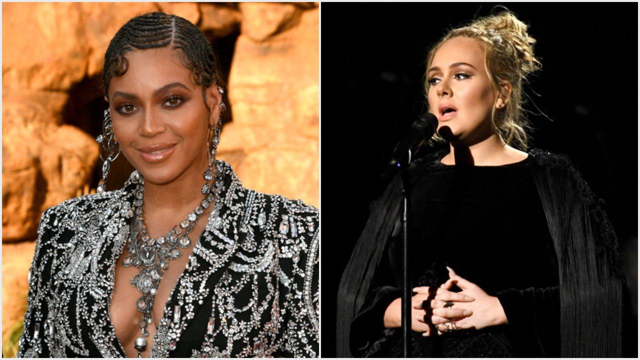 Beyoncé and Adele