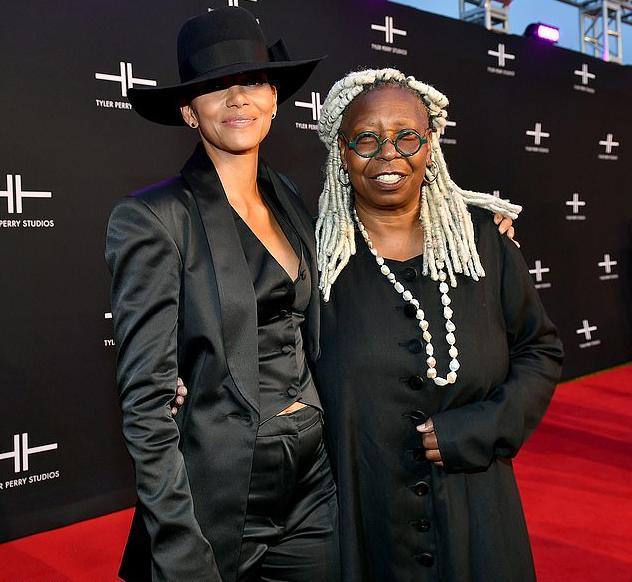 Halle Perry & Whoopi Goldberg - Tyler Perry Studios Red Carpet - Getty