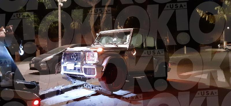Lori Harvey - car damage