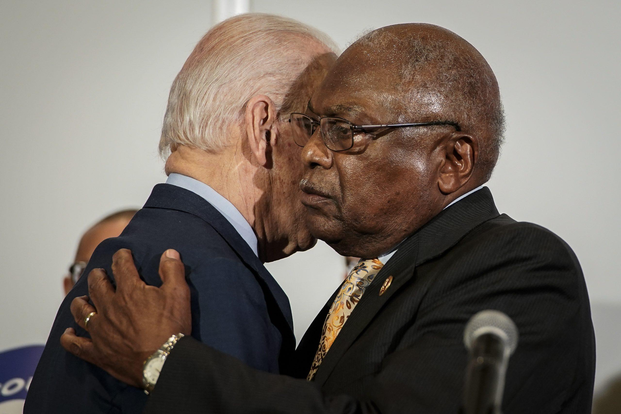 James Clyburn and Joe Biden