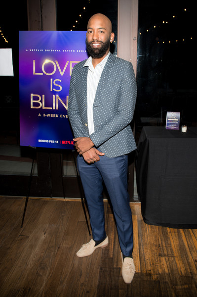 Carlton Morton attends the Netflix's Love is Blind VIP viewing party at City Winery on February 27, 2020 in Atlanta, Georgia.