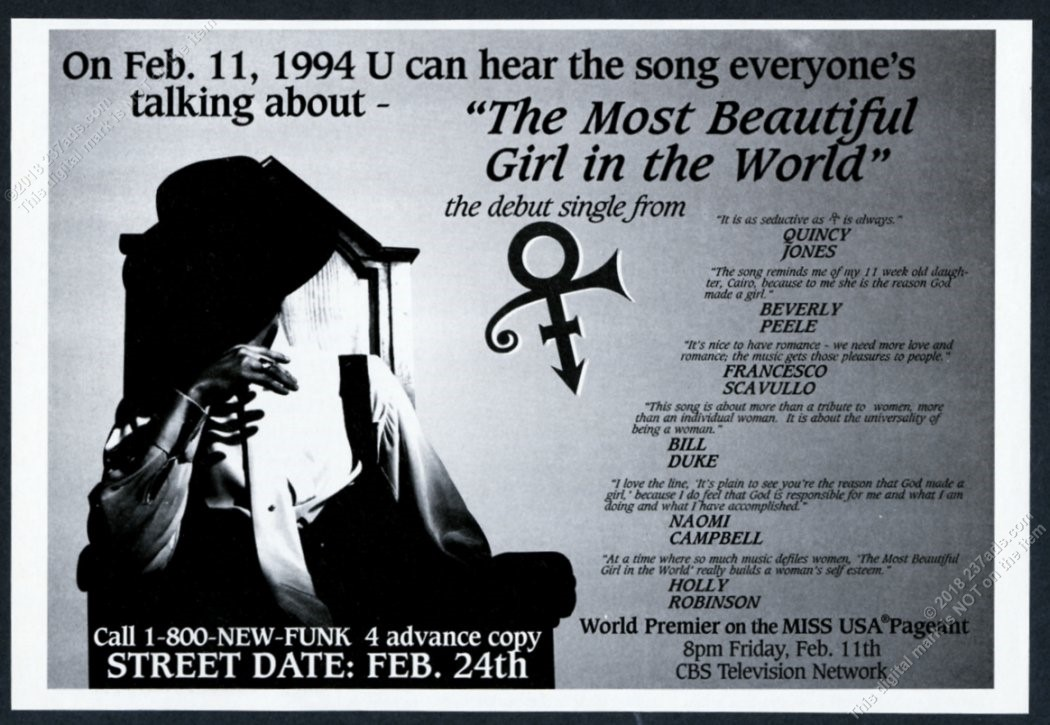 How Prince's 'The Most Beautiful Girl in the World' Made History ...