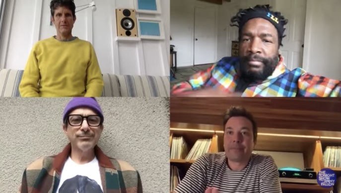 Mike D, Questlove, Jimmy Fallon and Adrock