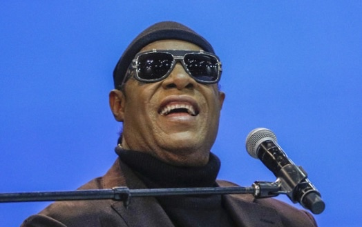 Musician Stevie Wonder performs My Cherie Amour at the funeral of former U.S. Congressman John Conyers Jr. (D-MI) at Greater Grace Temple on November 4, 2019 in Detroit, Michigan.