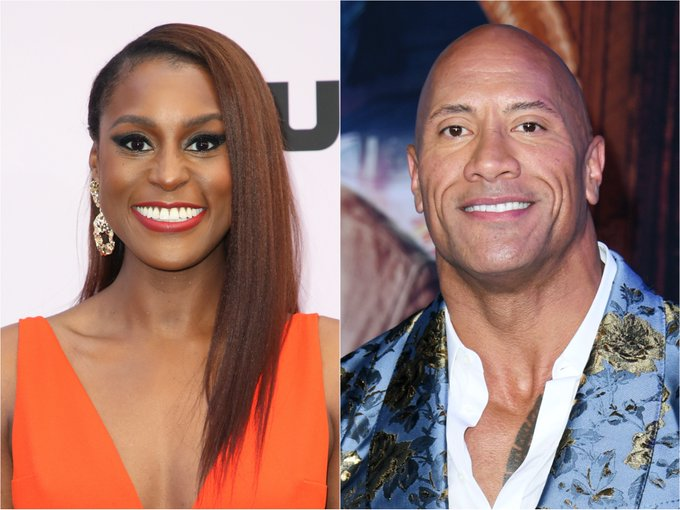 """Dwayne """"The Rock"""" Johnson and Issa Rae 2"""