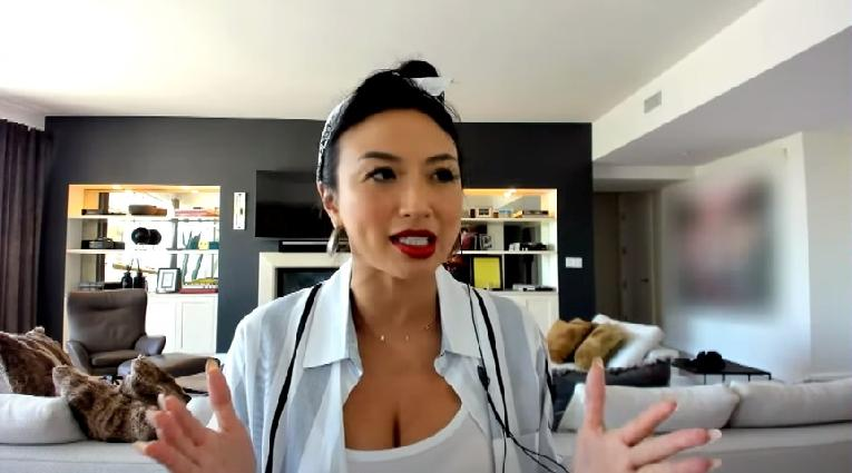 Jeannie Mai (the real from home - screenshot) 04-23-20