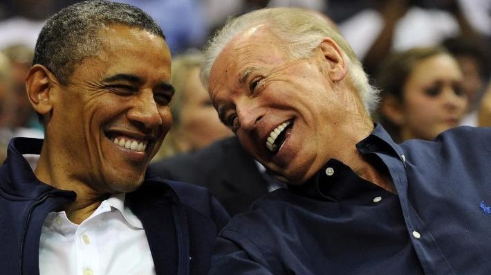 Obama & Biden (laughing - Getty)