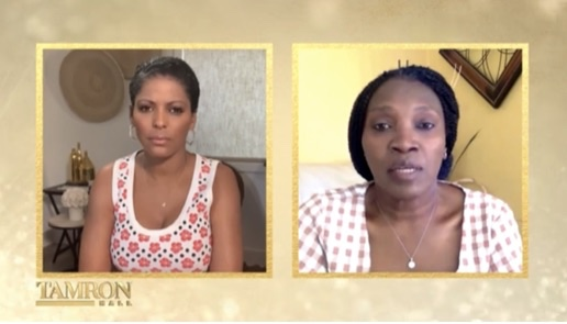 """Tamron Hall from her home in New York speaks with Wanda Cooper-Jones via """"Cyber Hall"""" on Monday's """"Tamron Hall"""""""
