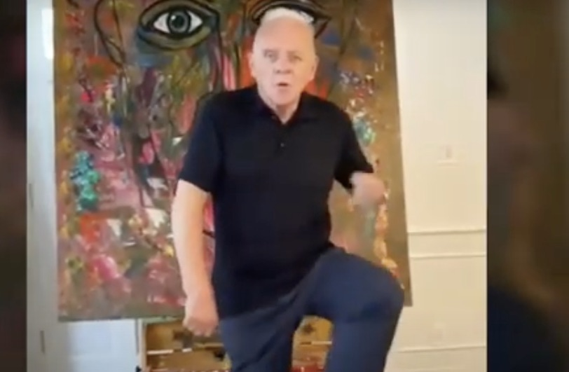 Anthony Hopkins doing the Toosie Slide