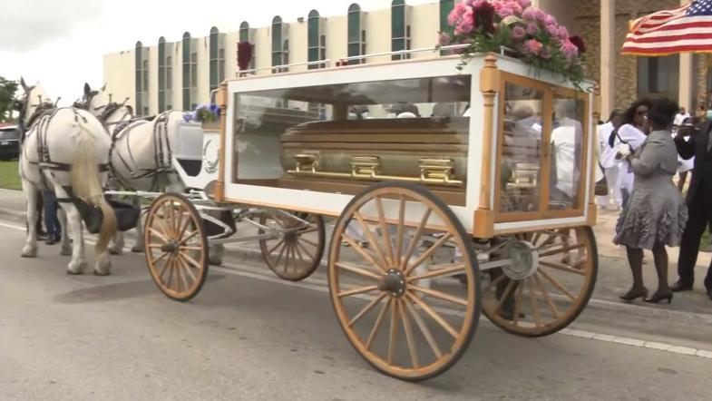 Betty Wright horse drawn carriage (local 10 screenshot)