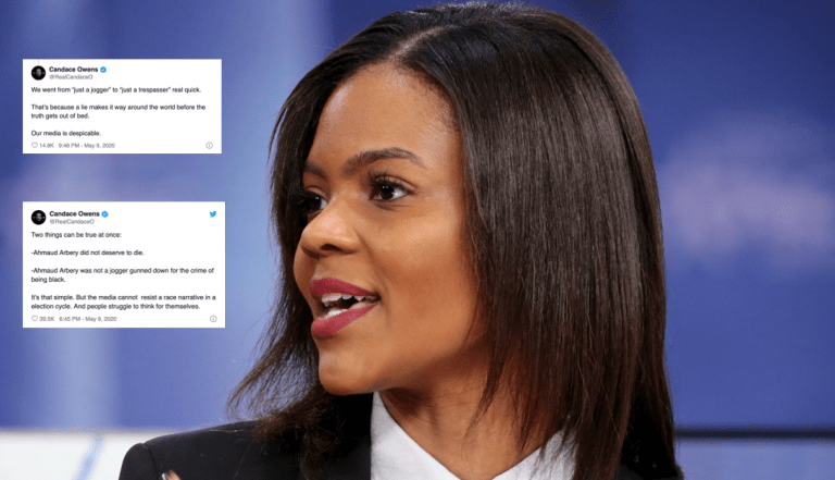 Candace Owens - headshot with tweets