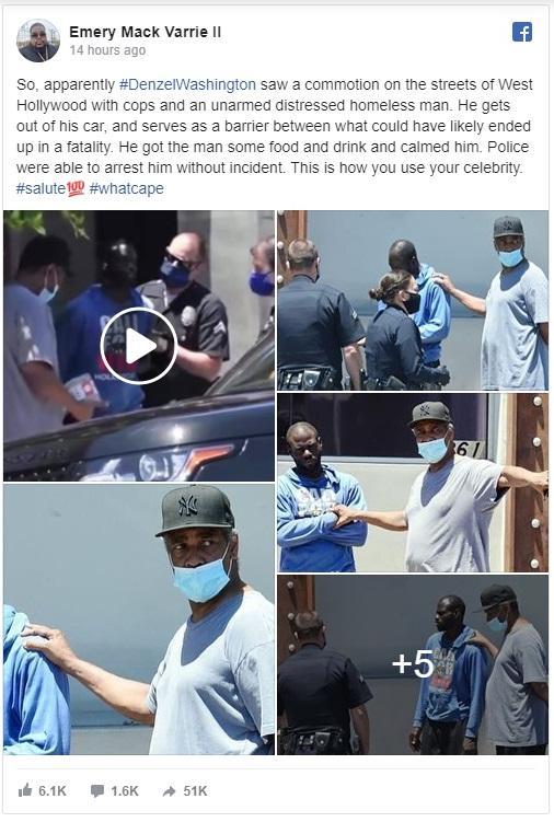 Denzel & black man & police1