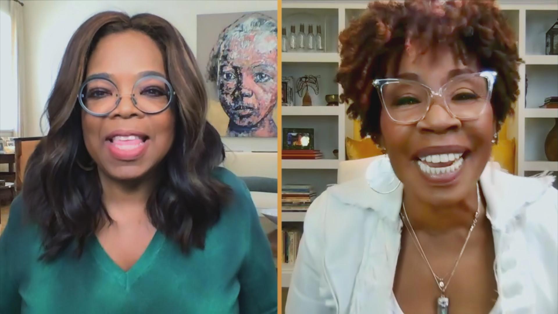 Oprah Winfrey and Iyanla Vanzant