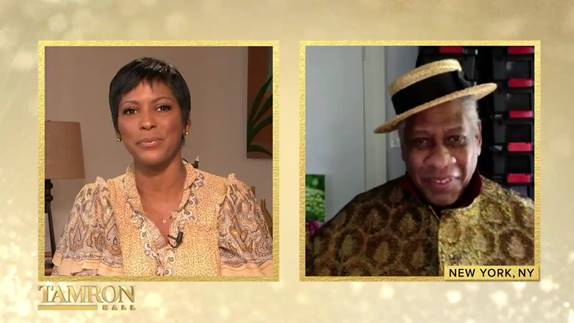 Tamron Hall and Andre Leon Talley