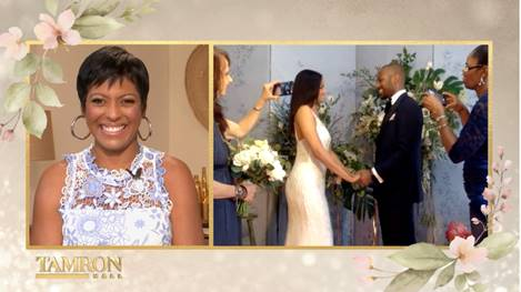 Tamron Hall officiates wedding