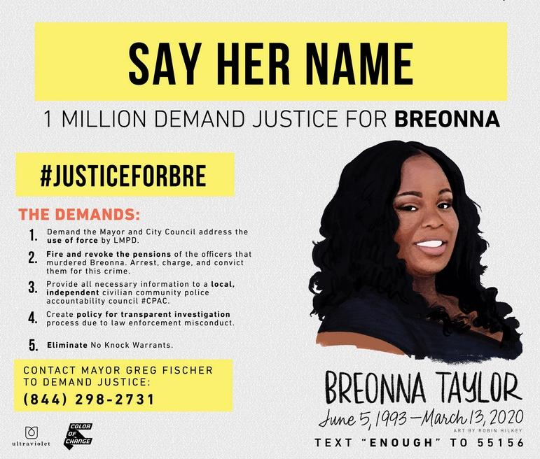 Breonna Taylor (Louisville Courier Journal - poster)