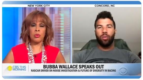 Gayle King - Bubba Wallace