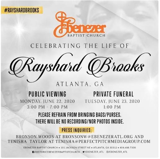 Rayshard Brooks - private viewing info