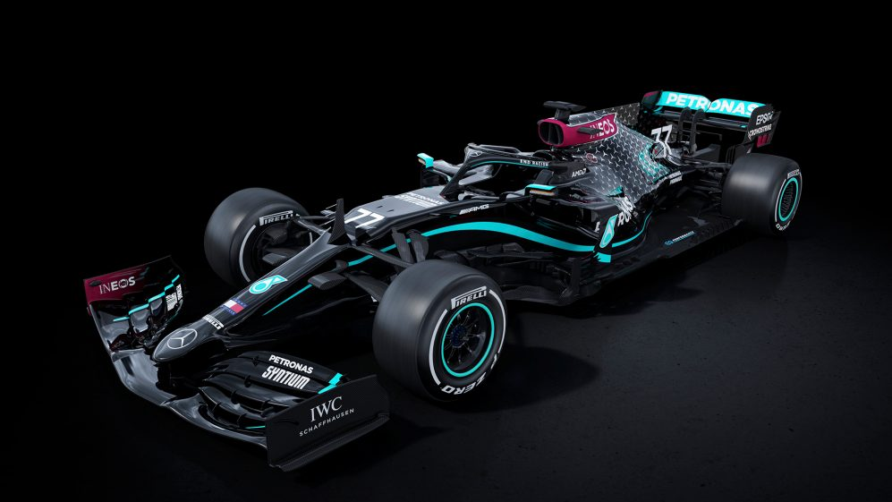 Mercedes F1 reveals brand new all black livery for the F1 2020 season in support of ending racism