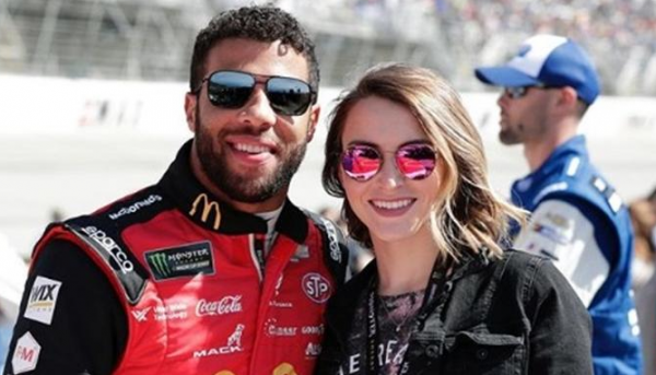Bubba Wallace and his girlfriend