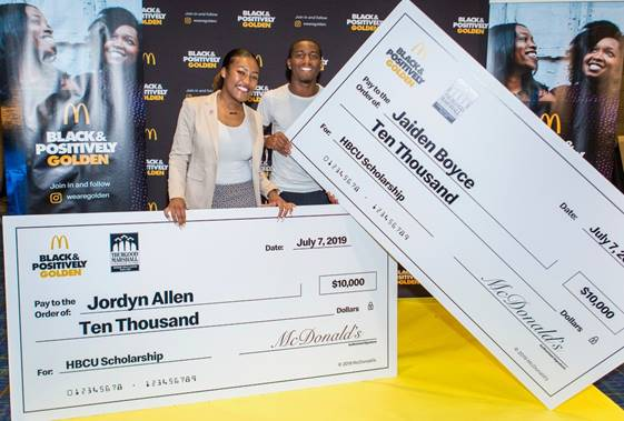 McDonald's launches the $500,000 Black & Positively Golden Scholarship Fund in partnership with the Thurgood Marshall College Fund