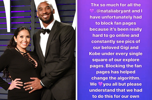 Vanessa Bryant Blocked All Kobe & Gigi Fan Pages on Social Media