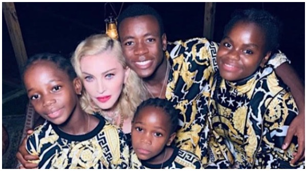 Madonna and her kids