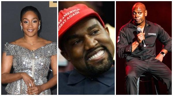 Tiffany Haddish, Kanye West, Dave Chapelle