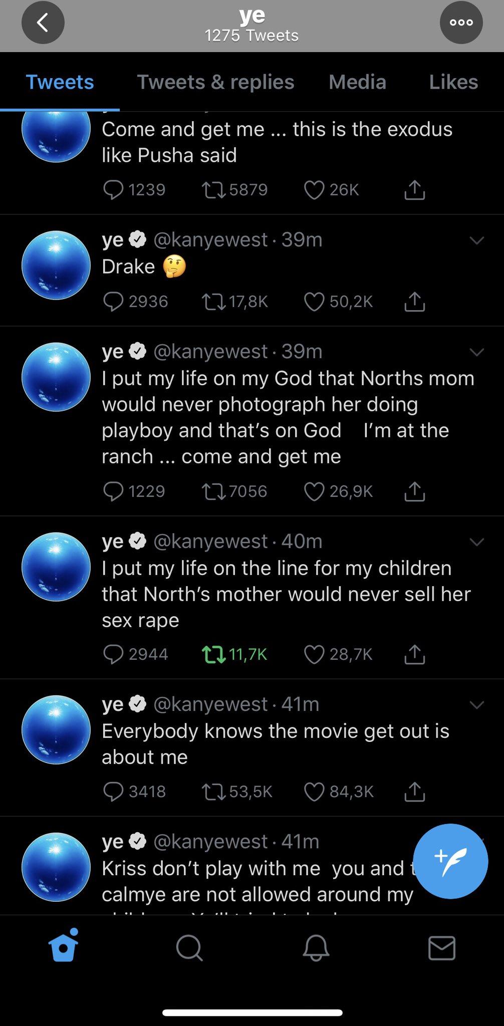Kanye West Tweet / Kim lock up