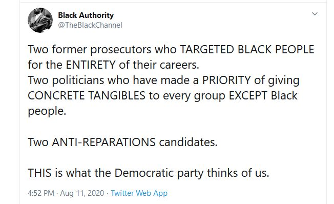 Black Authority - The Black Channel - Kamala/Biden