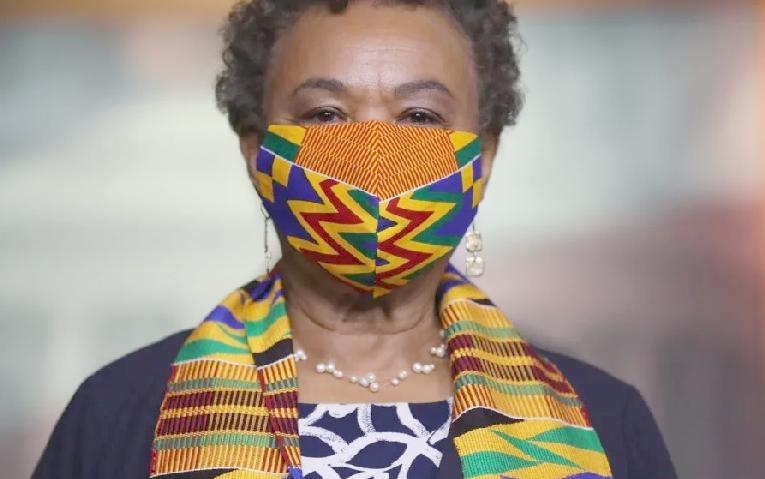 Barbara Lee - mask (Getty)