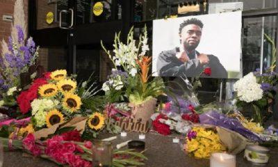 Chadwick Boseman memorial / Getty