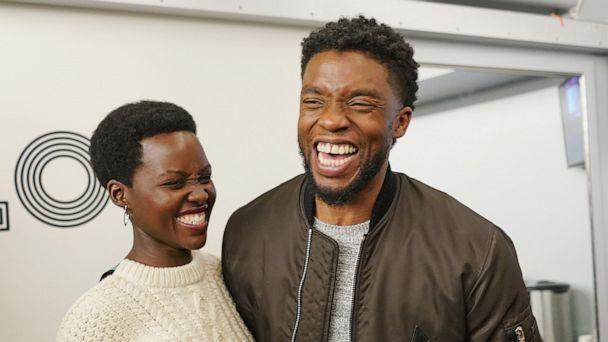 Lupita Nyong'o & Chadwick Boseman - Getty