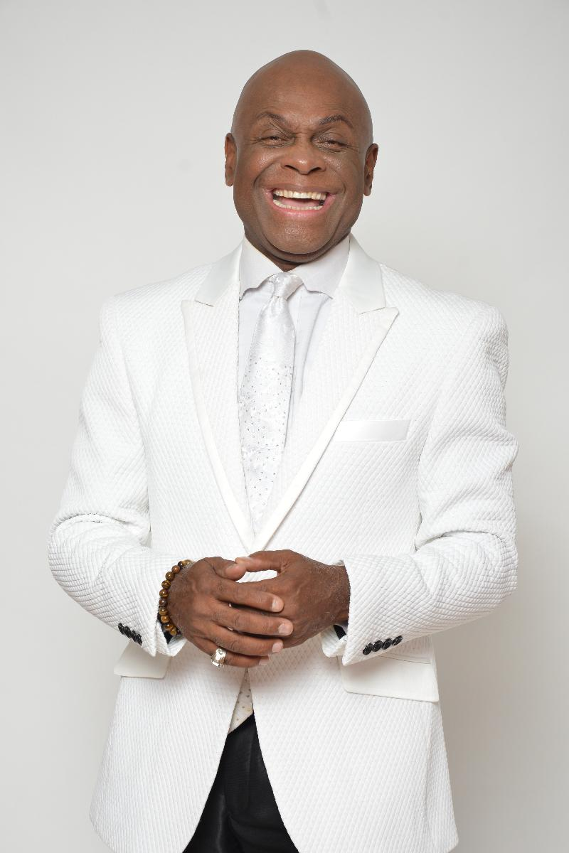 Michael Colyar in white jacket