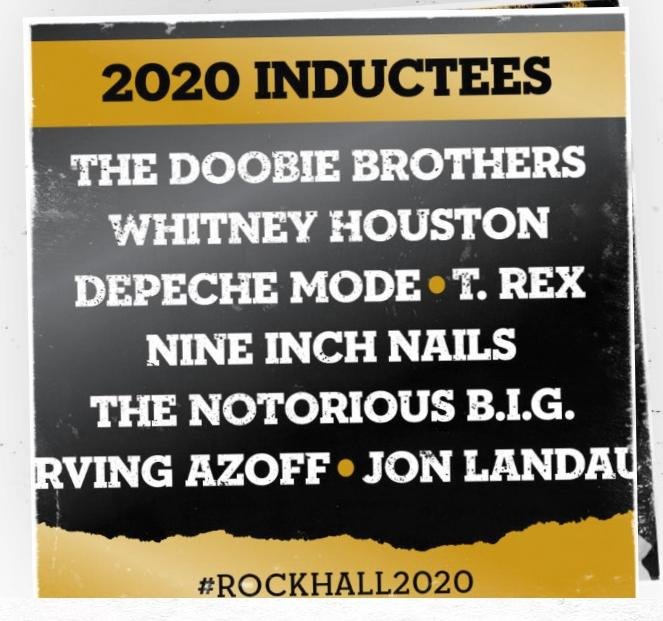 2020 Rock Hall of Fame Inductees