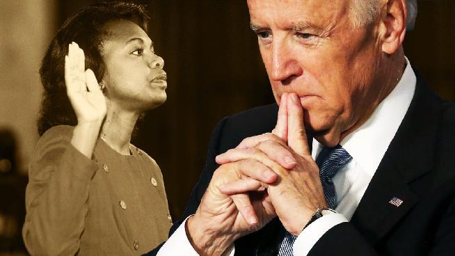 Anita Hill & Joe Biden (Getty)