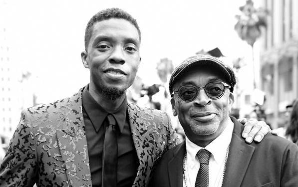Chadwick Boseman & Spike Lee1 (Getty)
