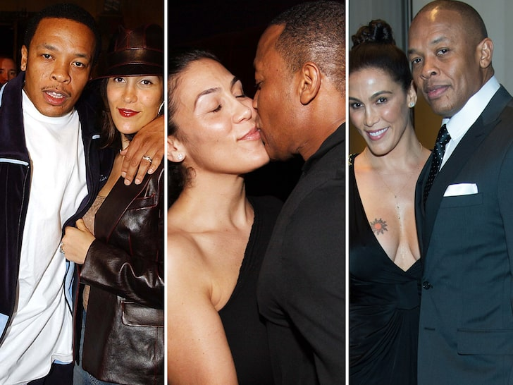 Dr Dre and Nicole Young in happier times