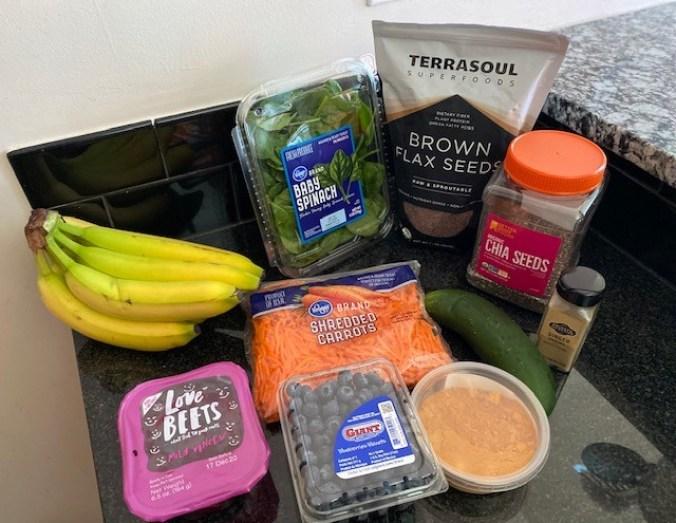 Healthy food ingredients for smoothie