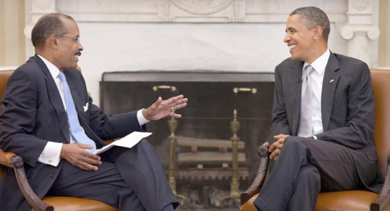 Joe Madison & Barack Obama