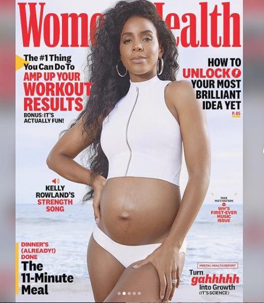 Kelly Rowland - pregnant - womens health1