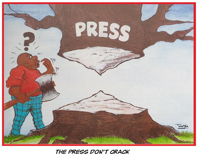 Press don't crack - A Cartoon by TAYO Fatunla